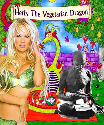 Pam Anderson And Gandhi: Sexy Vegetarians